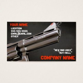 Smoking gun business card