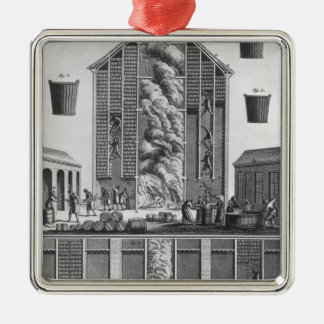 Smoking herrings Silver-Colored square decoration