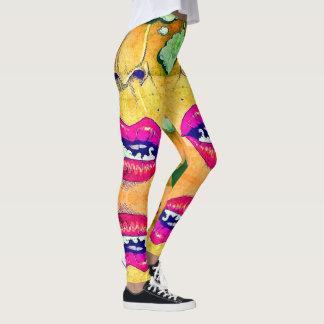 Smoking Hot Bad Girl Rave Love Pop Art Leggings