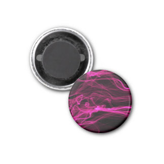 Smoking Hot Pink Black Abstract Design Refrigerator Magnets