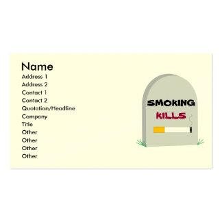 Smoking Kills business card