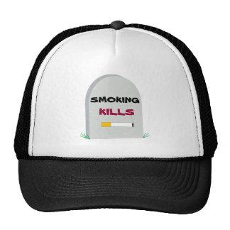 smoking kills mesh hats