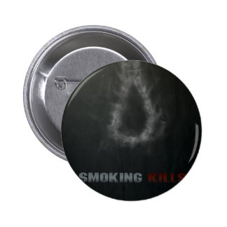Smoking Kills Hanging Rope 6 Cm Round Badge