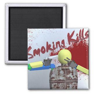 Smoking Kills Square Magnet