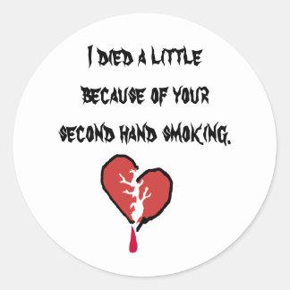 SMOKING KILLS ROUND STICKER