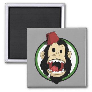 smoking monkey fridge magnet