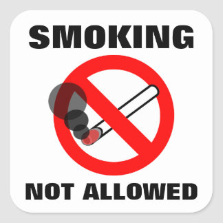 Smoking Not Allowed Sign Square Sticker