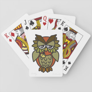 Smoking Owl Deck of Playing Cards