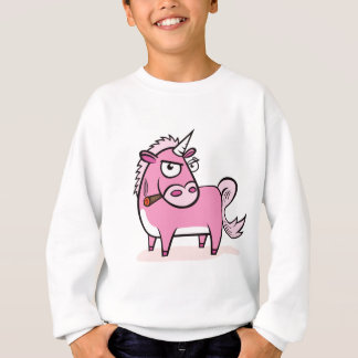 Smoking Pink Unicorn Sweatshirt