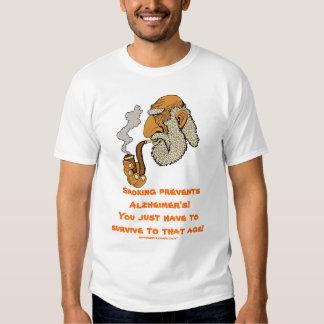 Smoking prevents Alzheimer's funny t-shirt design
