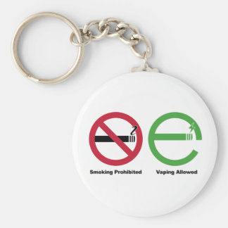 Smoking Prohibited. Vaping Allowed Basic Round Button Key Ring