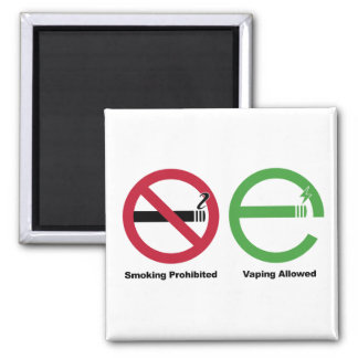 Smoking Prohibited. Vaping Allowed Square Magnet