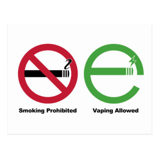 Smoking Prohibited. Vaping Allowed Postcard