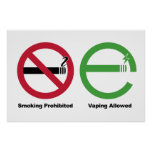 Smoking Prohibited. Vaping Allowed Poster