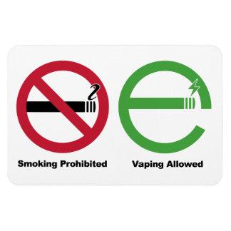 Smoking Prohibited. Vaping Allowed Vinyl Magnets