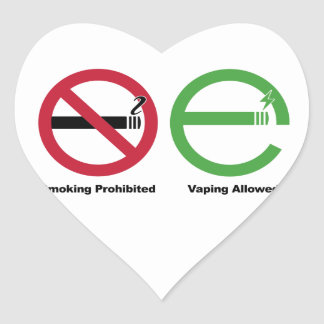 Smoking Prohibited. Vaping Allowed Stickers