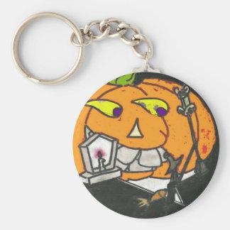 smoking pumpkin key chain