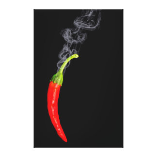 Smoking Red Hot Chili Pepper Canvas Canvas Print