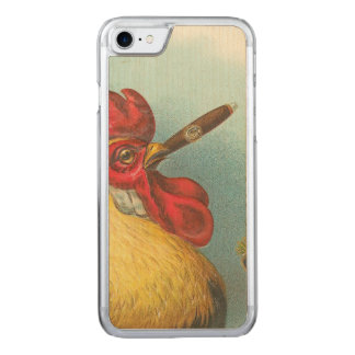 Smoking Rooster Carved iPhone 8/7 Case