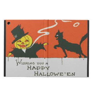 Smoking Scarecrow Jack O' Lantern Black Cat Cover For iPad Air