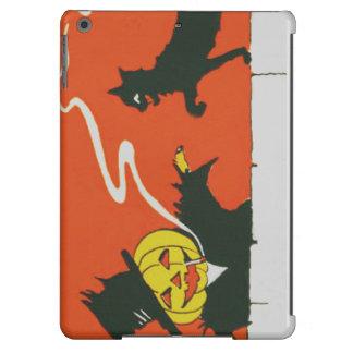 Smoking Scarecrow Jack O' Lantern Black Cat iPad Air Cover