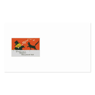 Smoking Scarecrow Jack O' Lantern Black Cat Pack Of Standard Business Cards