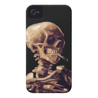 Smoking skeleton by Van Gogh iPhone 4 Case-Mate Case