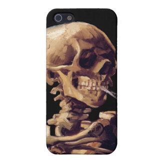 Smoking skeleton by Van Gogh iPhone 5 Cases