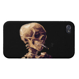 Smoking skeleton by Van Gogh Cases For iPhone 4