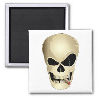 Smoking Skull Magnet