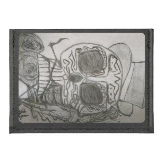Smoking Skull Men's Credit Card Case Tyvek® Card Wallet