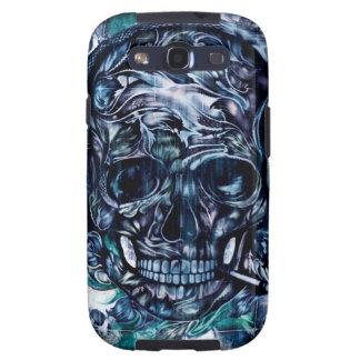 Smoking skull with headphones galaxy SIII cases