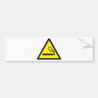 Smoking Smoker Sign Bumper Sticker