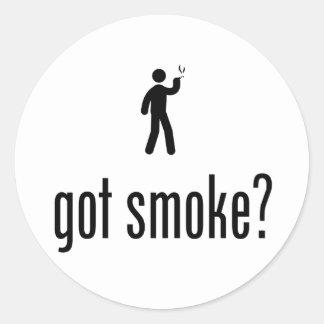 Smoking Round Stickers