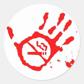 Smoking Round Sticker