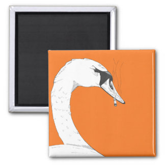 Smoking Swan Magnet | Funny, Peculiar, and Campy