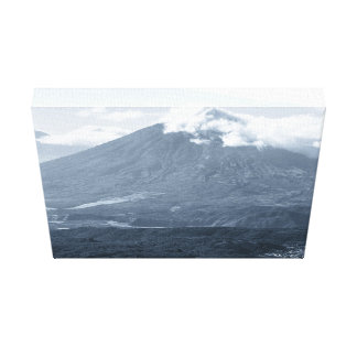 Smoking Volcano Stretched Canvas Print