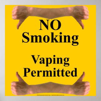 Smoking vs Vaping sign