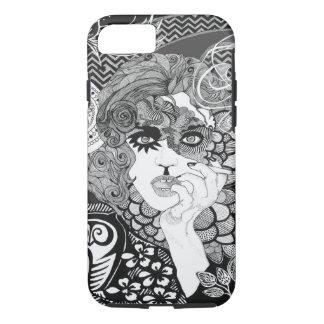 Smoking Woman iPhone 7, Tough iPhone 7 Case
