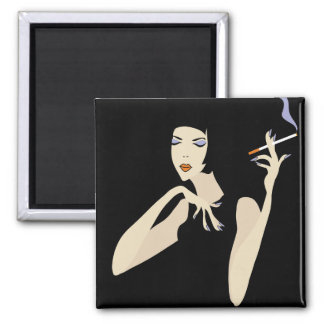 Smoking Woman Magnet