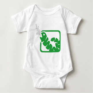 smoking worm baby bodysuit