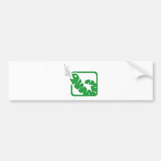 smoking worm bumper sticker