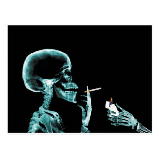 smoking x-rays postcard