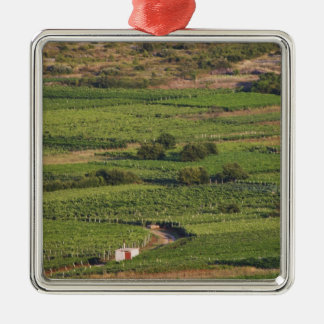 Smokvica vineyards on Korcula from the Toreta Silver-Colored Square Decoration