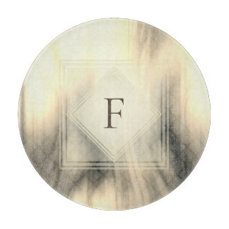 Smoky & Faded Abstract Monogram | Cutting Board
