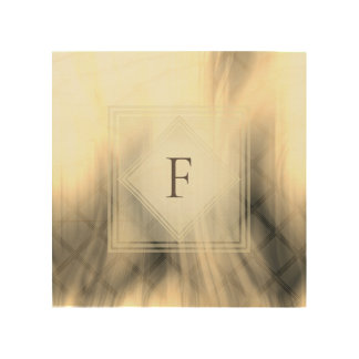Smoky & Faded Abstract Monogram | Wood Wall Art