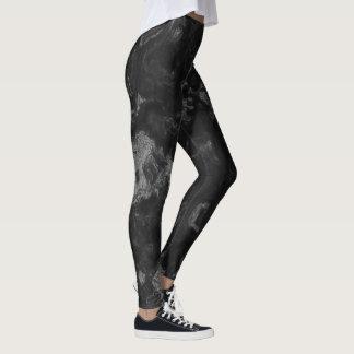 smoky grey and black leggings
