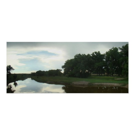 Smoky Hill River Reflections Poster