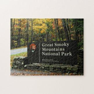 Smoky Mountain Autumn Sign - Puzzle Set