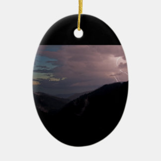 Smoky Mountain Lightning Christmas Ornaments